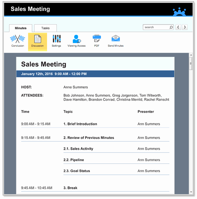 Sales Meeting Agenda Template Awesome Sales Meeting Minutes