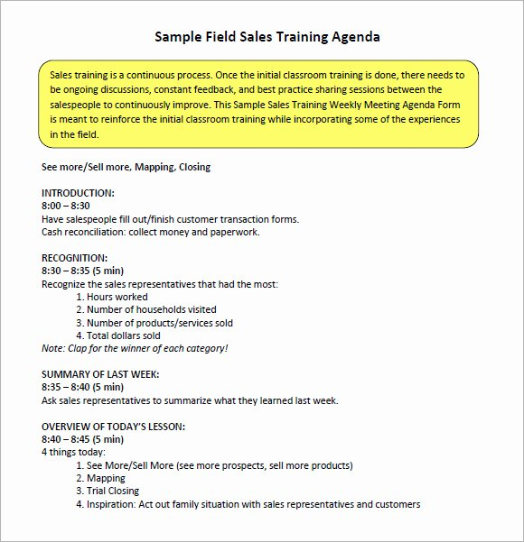 Sales Meeting Agenda Template Fresh Free 13 Sales Meeting Agenda Templates In Pdf
