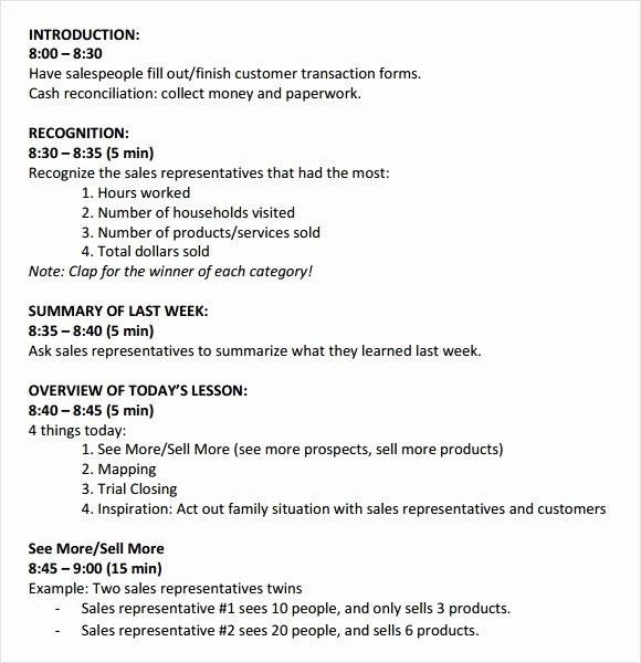 Sales Meeting Agenda Template Inspirational 8 Sales Meeting Agenda Templates to Free Download