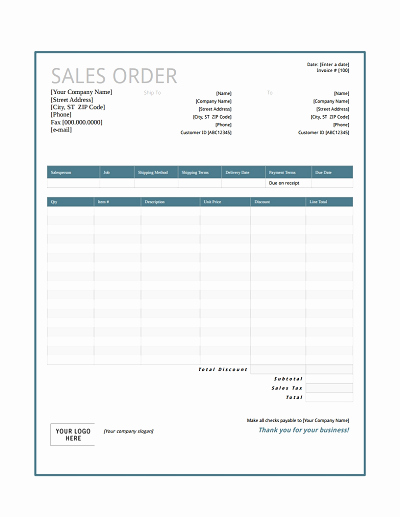 Sales order form Template Inspirational Sales order Template Free Download Edit Fill Create