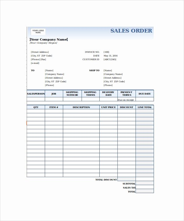Sales order form Templates Beautiful 23 order form Templates Pdf Word Excel