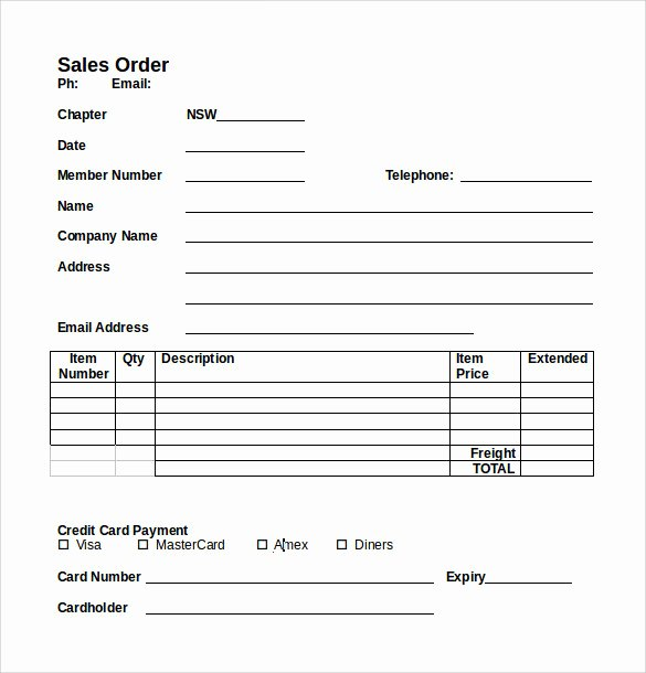 Sales order form Templates Elegant Sample Sales order 6 Example format