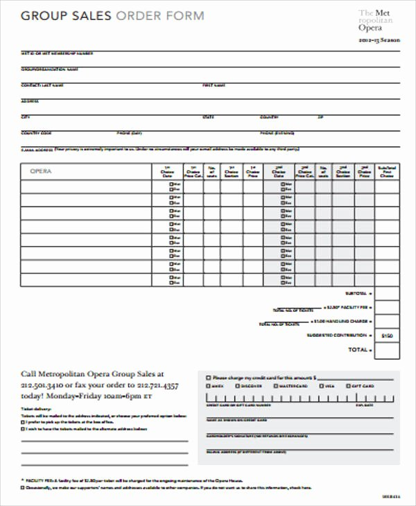 Sales order form Templates Inspirational Sample Sales order form 11 Examples In Word Pdf