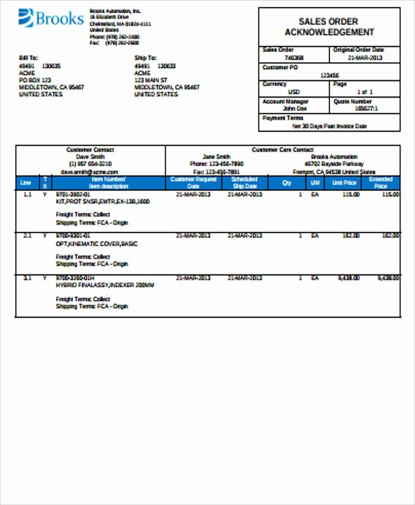 Sales order forms Templates Awesome Sample Sales order form 11 Examples In Word Pdf