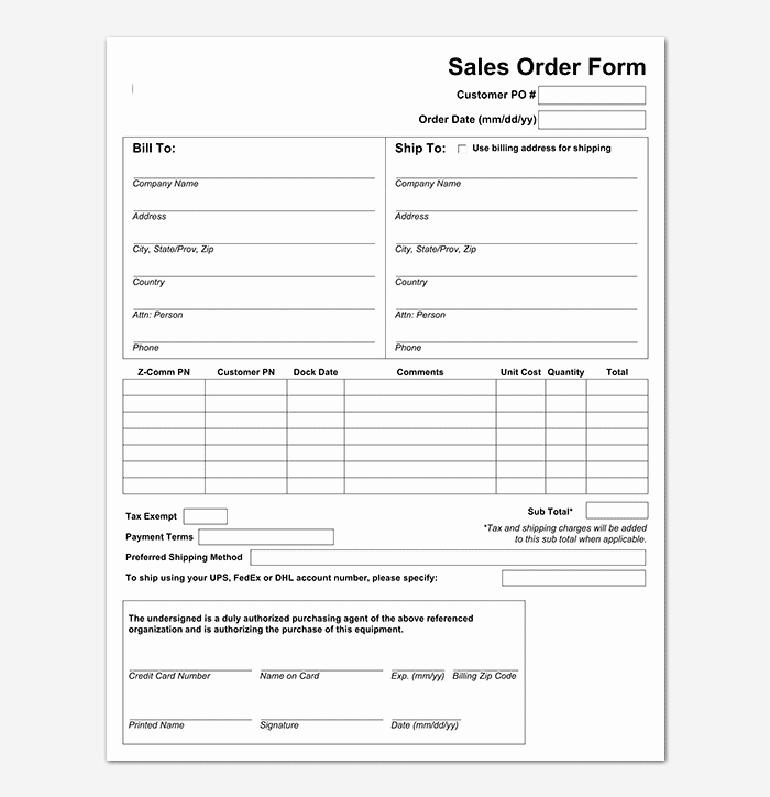 Sales order forms Templates Fresh Sales order Template 22 formats & Examples Word Excel