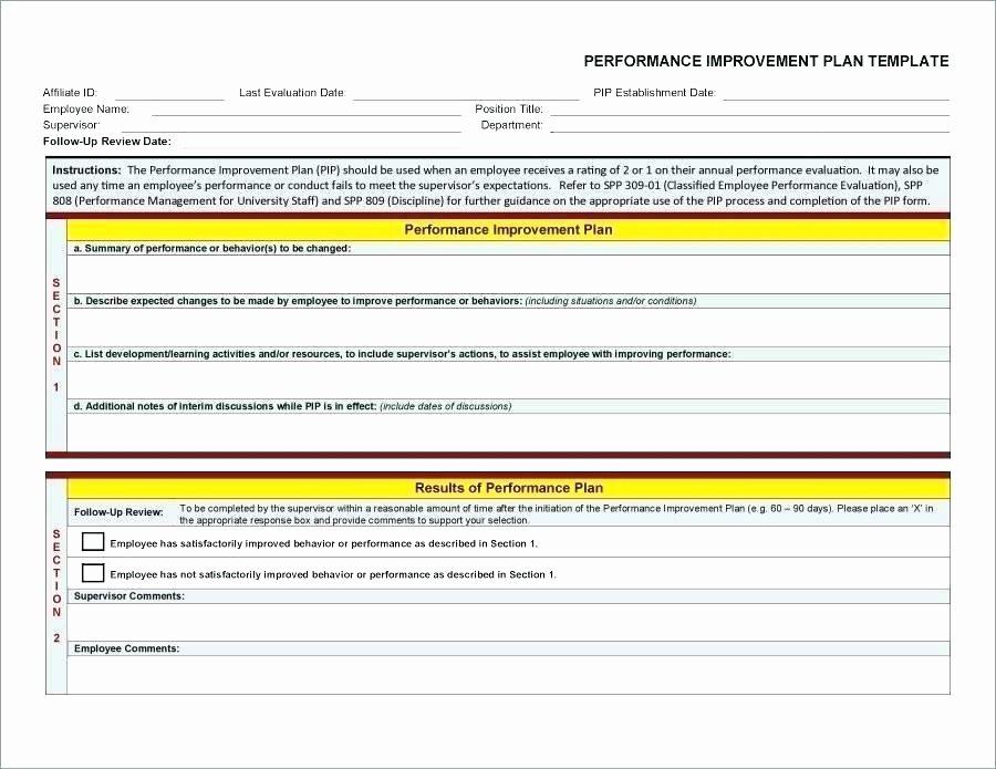 Sales Performance Improvement Plan Template New Sales Performance Improvement Plan Template