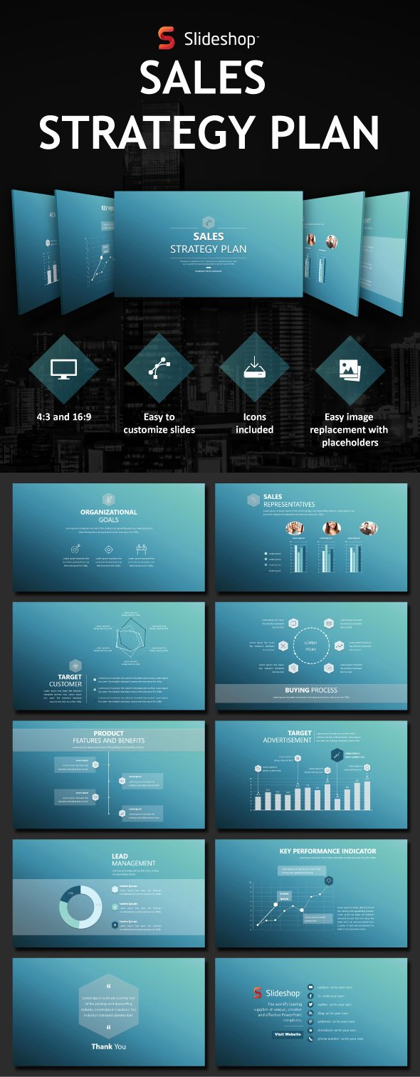 Sales Plan Template Ppt Awesome Sales Strategy Plan by Slideshop