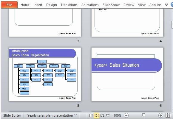 Sales Plan Template Ppt Awesome Yearly Sales Plan Presentation Template