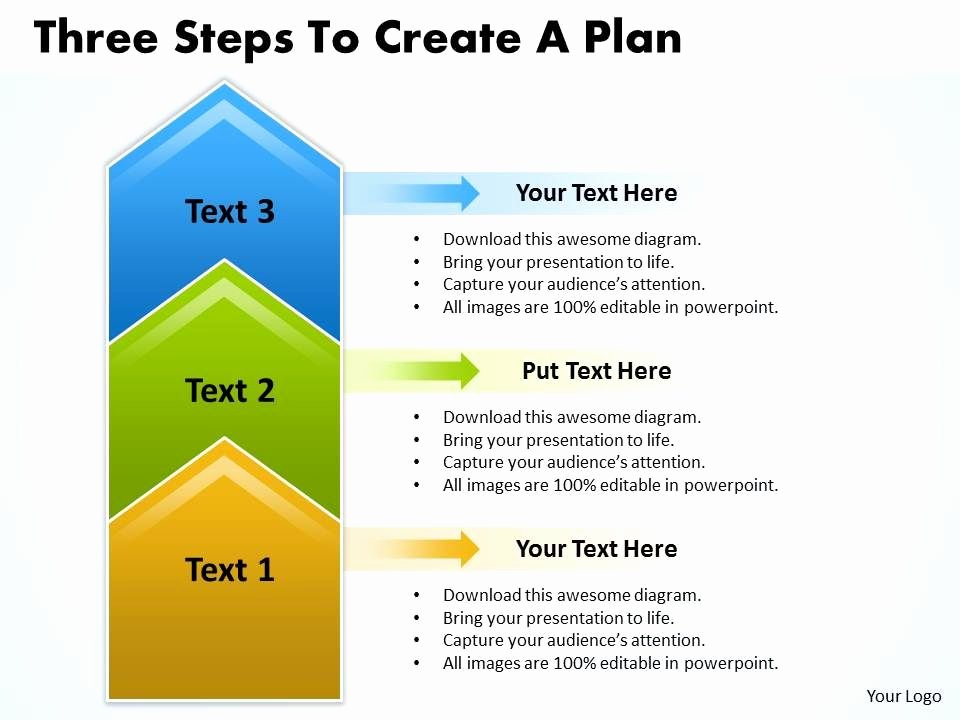 Sales Plan Template Ppt Fresh Business Powerpoint Templates Three Steps to Create Plan