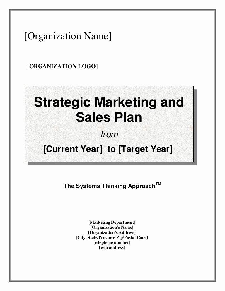 Sales Plan Template Ppt Unique Strategic Marketing & Sales Plan Template