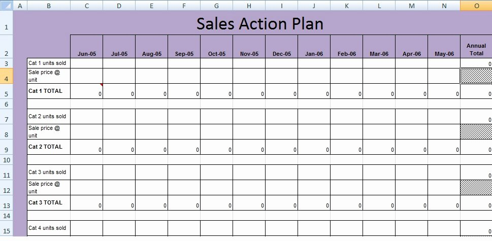 Sales Planning Template Excel Fresh Get Sales Action Plan Template Xls Free Excel
