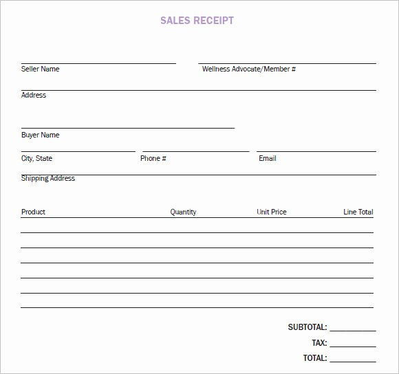 Sales Receipt Template Pdf Awesome 10 Sales Receipt Templates – Free Samples Examples format