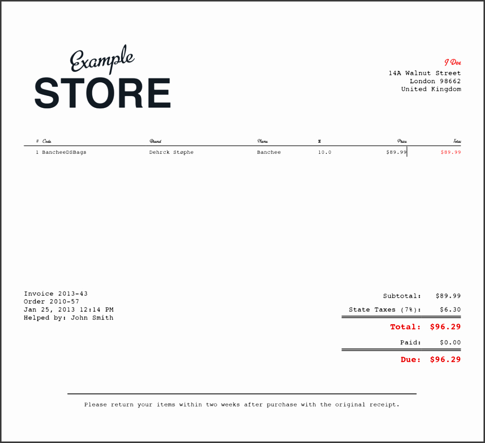 Sales Receipt Template Pdf Elegant 4 Sales Receipt Templates Sampletemplatess