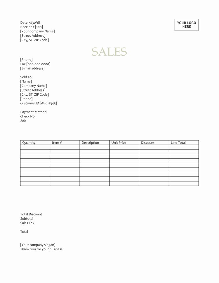 Sales Receipt Template Pdf Unique 12 Free Sales Receipt Templates Word Excel Pdf