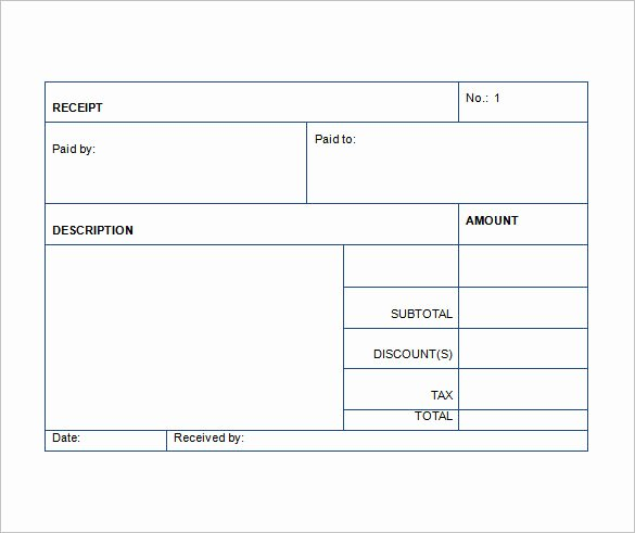 Sales Receipt Template Word Awesome Sales Receipt Template 22 Free Word Excel Pdf format