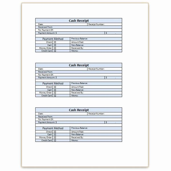 Sales Receipt Template Word Best Of Blank Receipt Template Microsoft Word