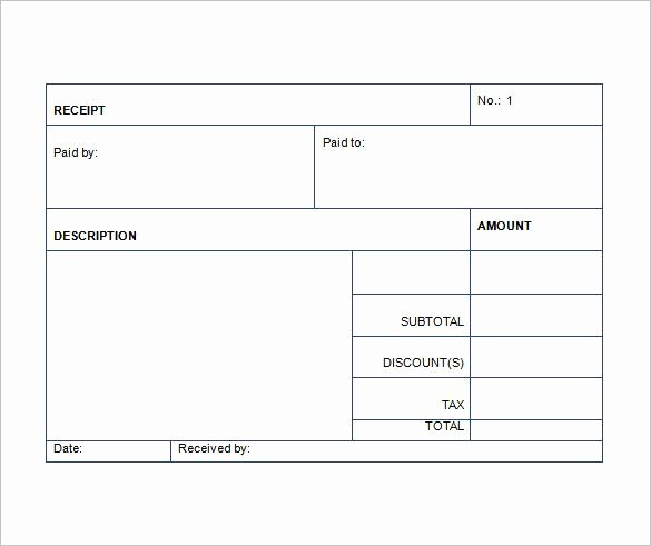 Sales Receipt Template Word Fresh Sales Receipt Template Free Word Excel Pdf format