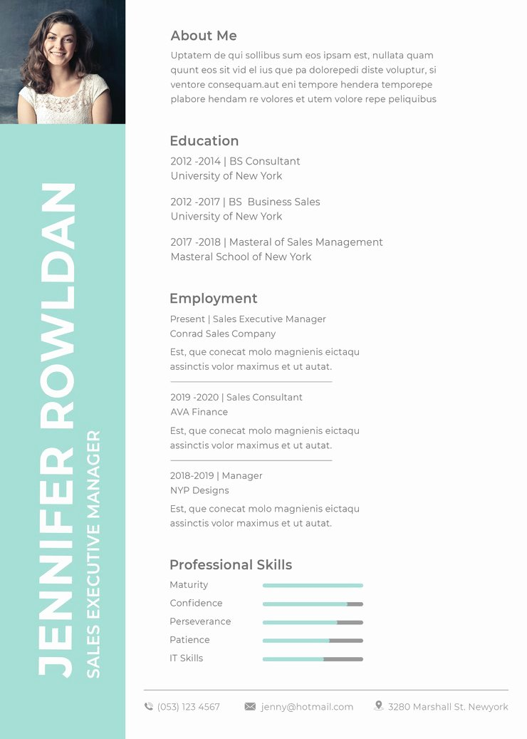 Sales Resume Template Word Awesome Free Sales Executive Resume Cv Template In Shop Psd