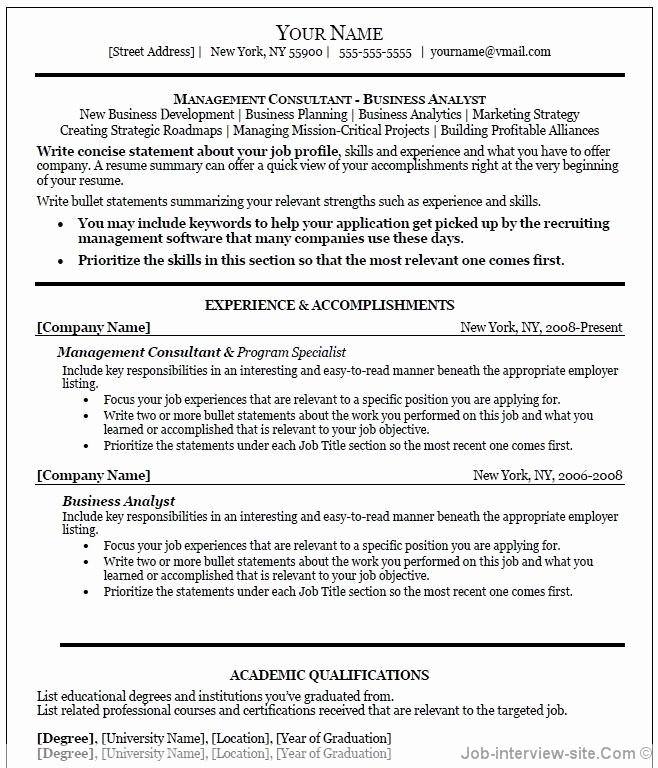 Sales Resume Template Word Elegant Free 40 top Professional Resume Templates