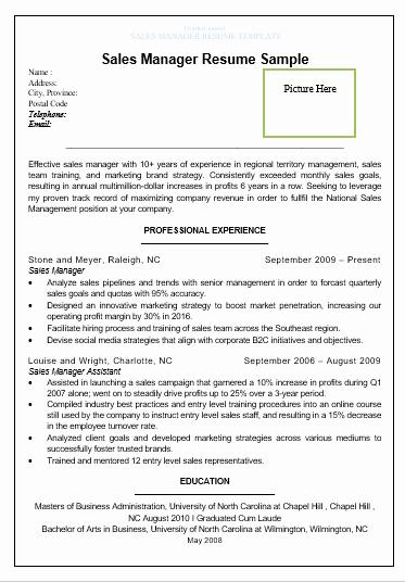 Sales Resume Template Word Elegant Sales Resume Template