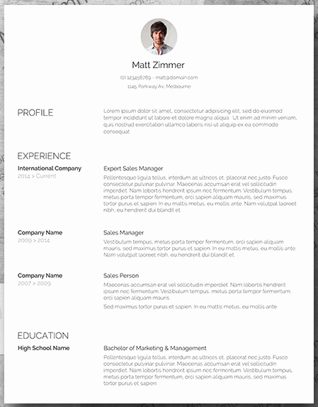 Sales Resume Template Word Inspirational 25 Free Resume Templates for Microsoft Word & How to Make