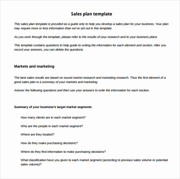 Sales Strategy Plan Template Fresh Sample Sales Plan Template 17 Free Documents In Pdf