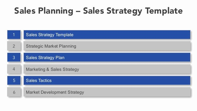 Sales Strategy Plan Template New Sales Planning Sales Strategy Template
