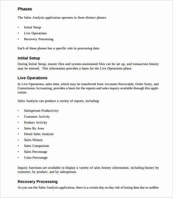 Sales Training Manual Template Beautiful Sales Analysis Template 10 Free Word Excel Pdf format