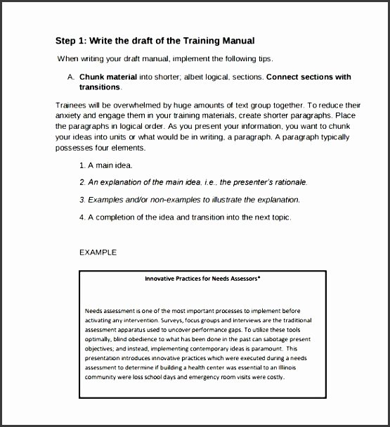 Sales Training Manual Template Lovely 9 Training Guide Template Sampletemplatess