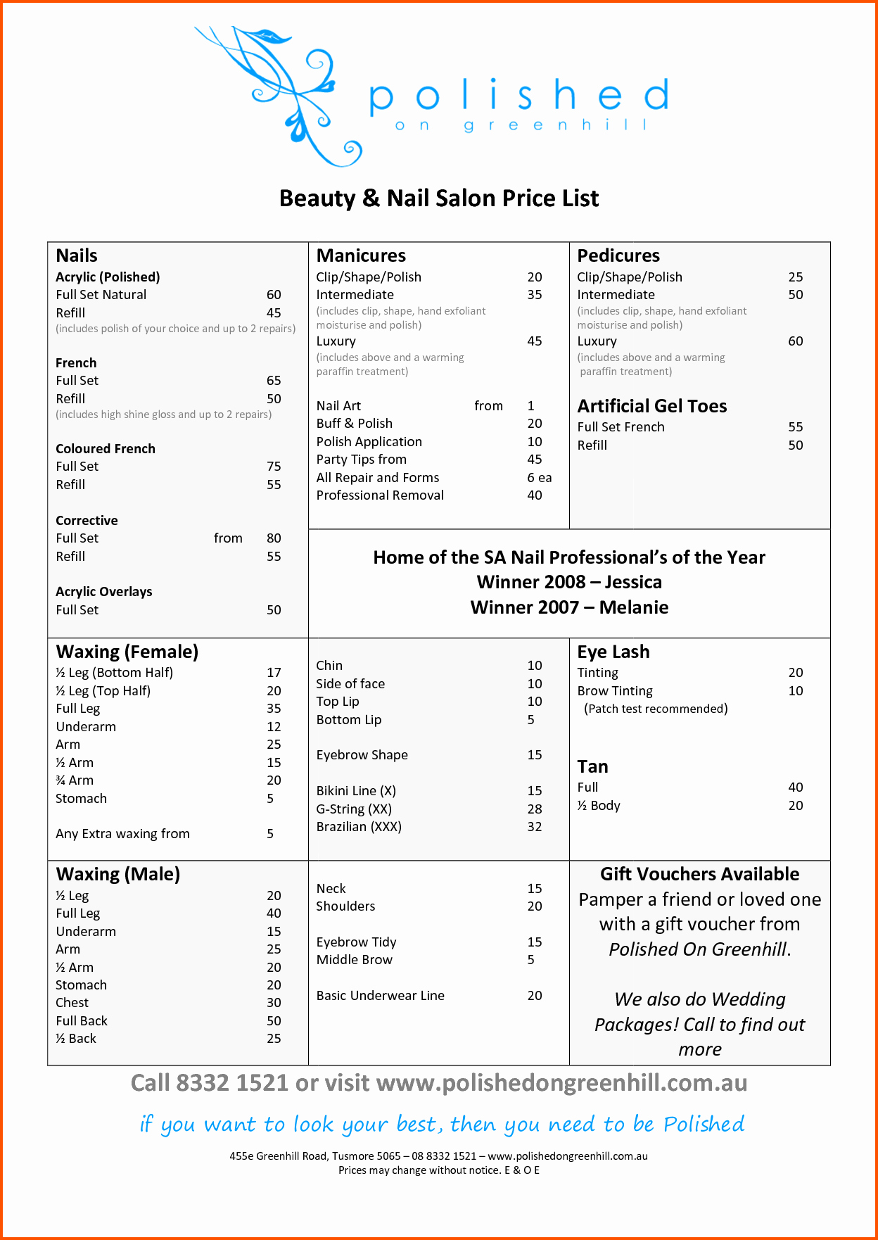 Salon Price List Template Fresh 10 Salon Price List Template