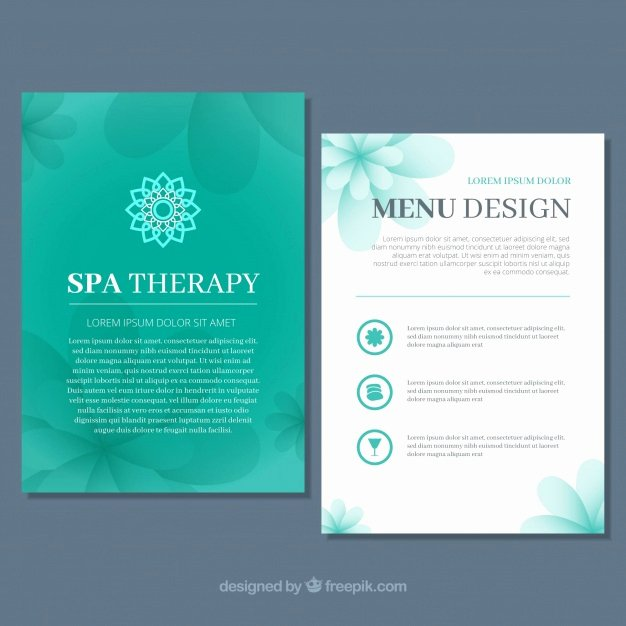 Salon Price List Template Inspirational Spa Center Price List Template Vector