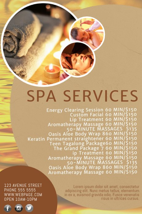 Salon Price List Template Lovely Spa Salon Price List Template