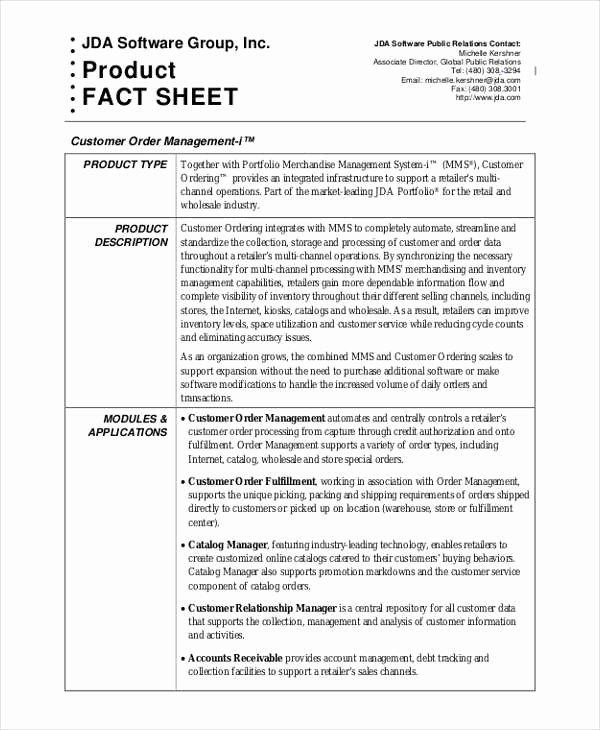 Sample Fact Sheet Template Inspirational 33 Fact Sheet Samples