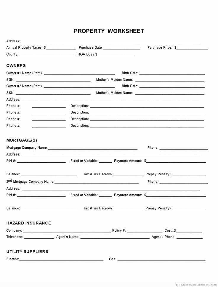 Sample Fact Sheet Template Inspirational Sample Printable Property Fact Sheet form