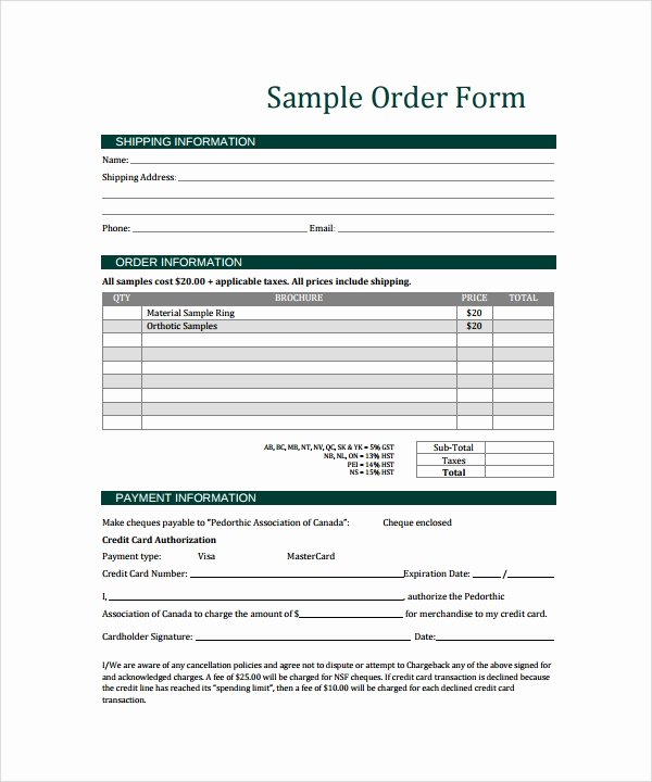 Sample order forms Template Elegant order form Template 23 Download Free Documents In Pdf
