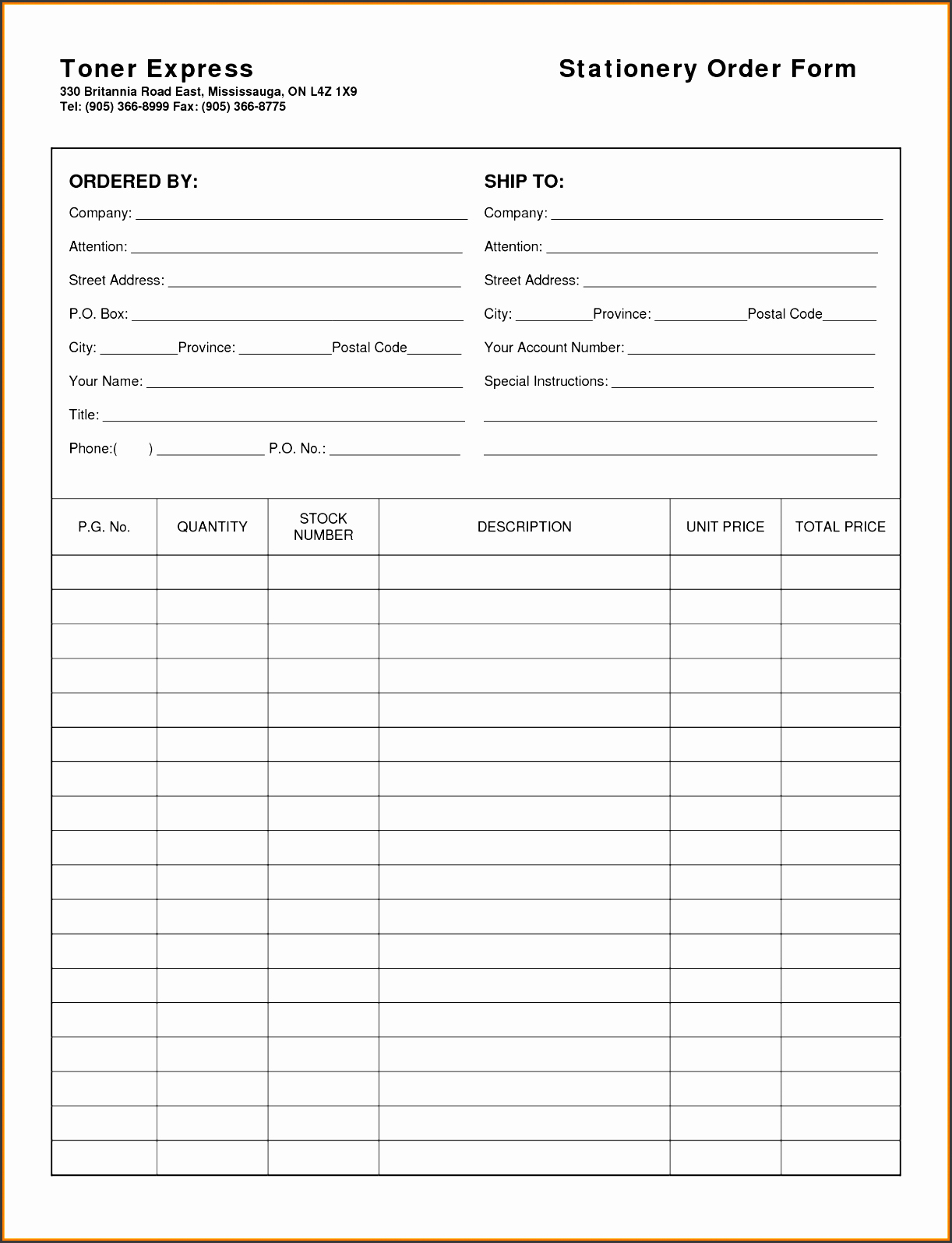 sample order form format uhkgb