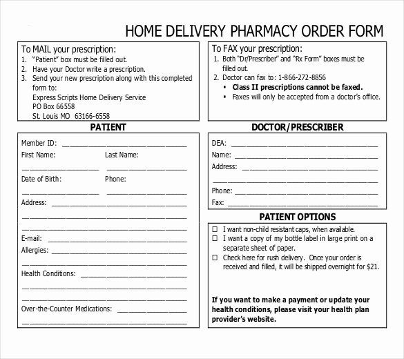 Sample order forms Template Luxury Delivery order Sample Delivery order form