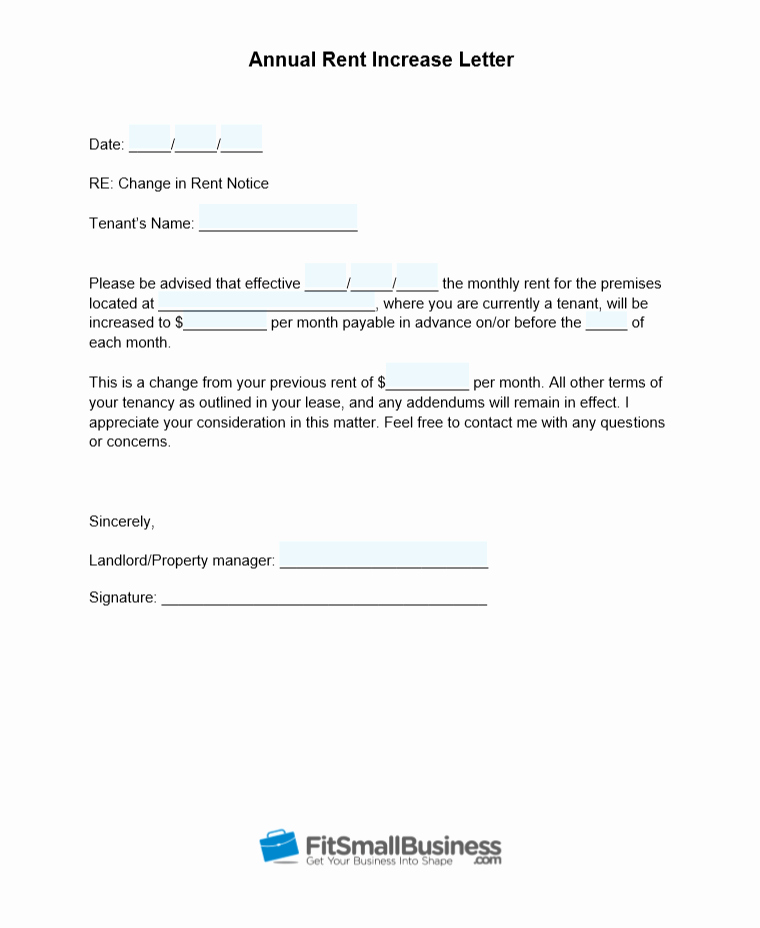 Sample Rent Increase Letter Template Awesome Sample Rent Increase Letter [ Free Templates]