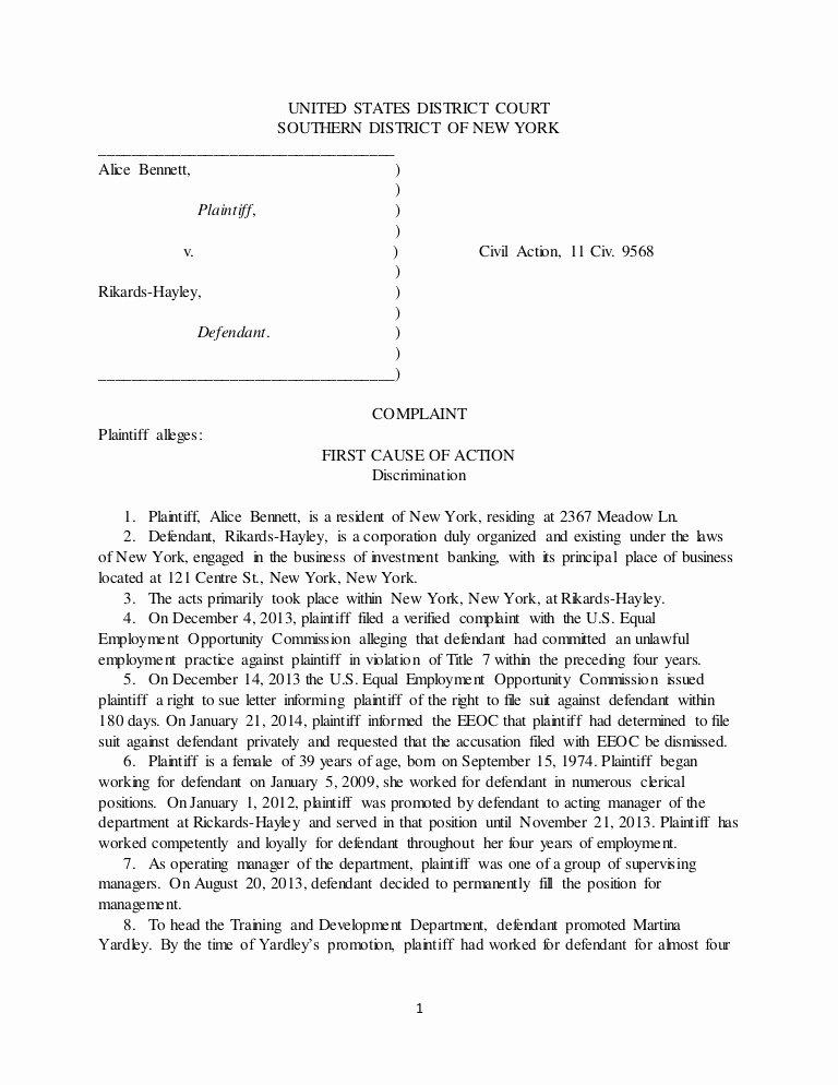 Sample Use Case Template Awesome Legl Civil Litigation Plaint