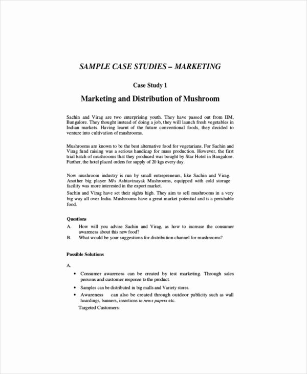 Sample Use Case Template Elegant 8 Marketing Case Study Templates – Free Sample Example