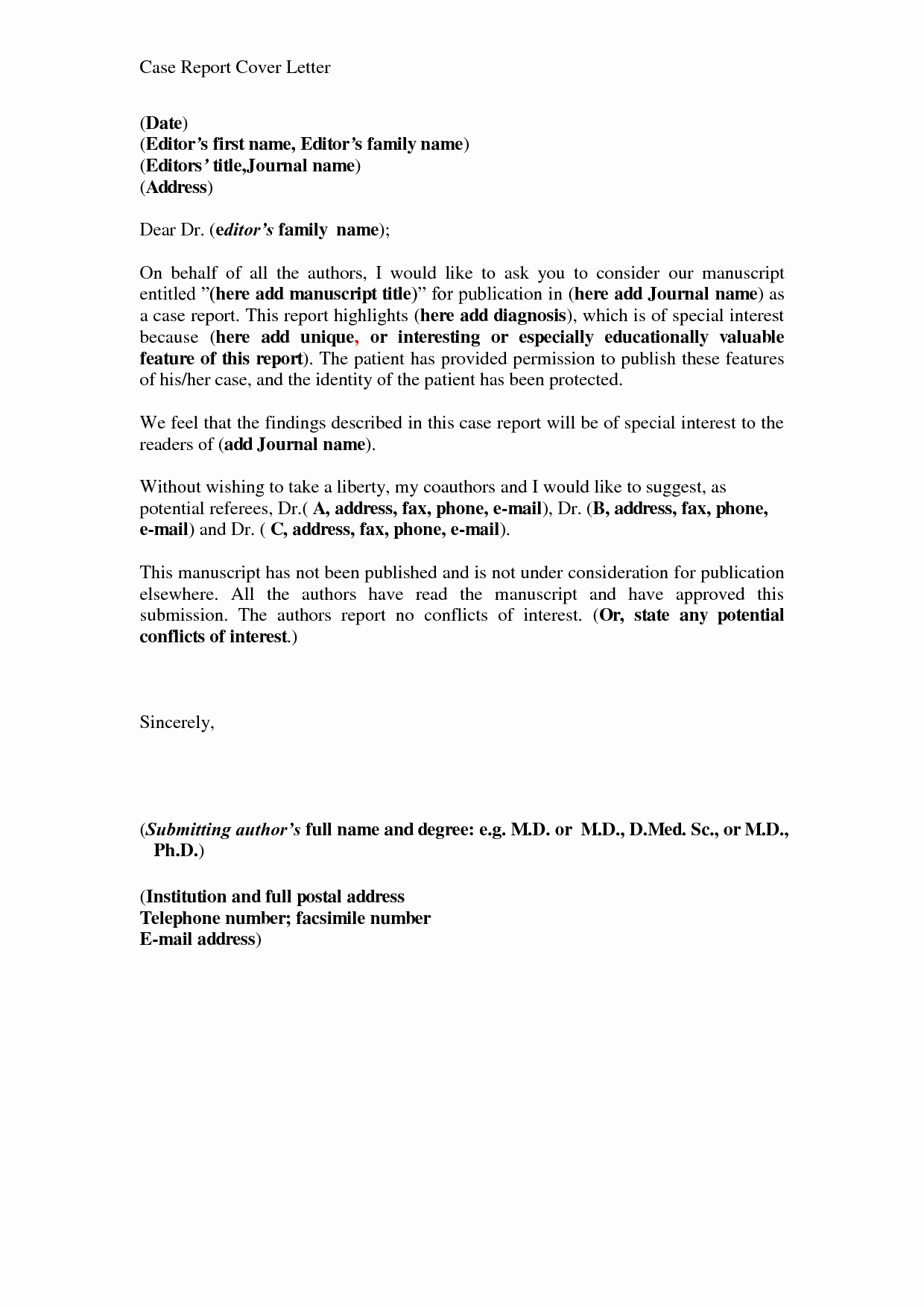 Sample Use Case Template Elegant Best S Of Business Report Cover Letters Business