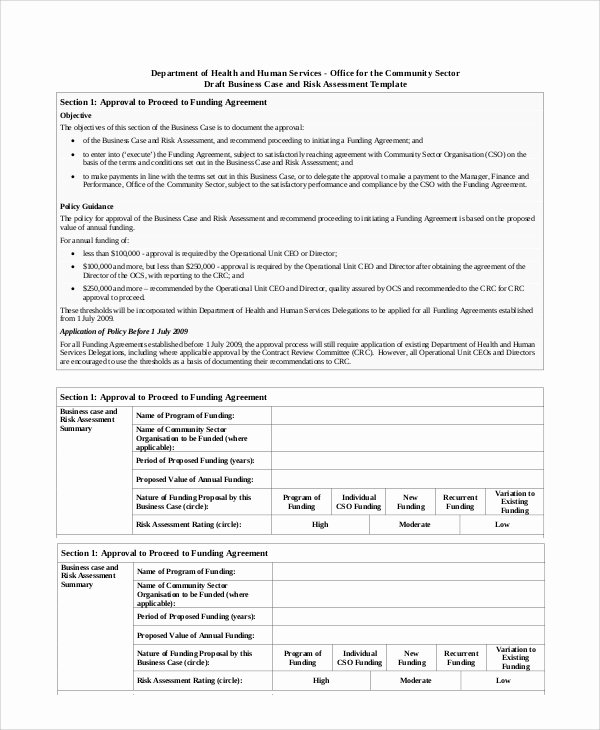 Sample Use Case Template Fresh Sample Business Risk assessment 7 Documents In Pdf Word