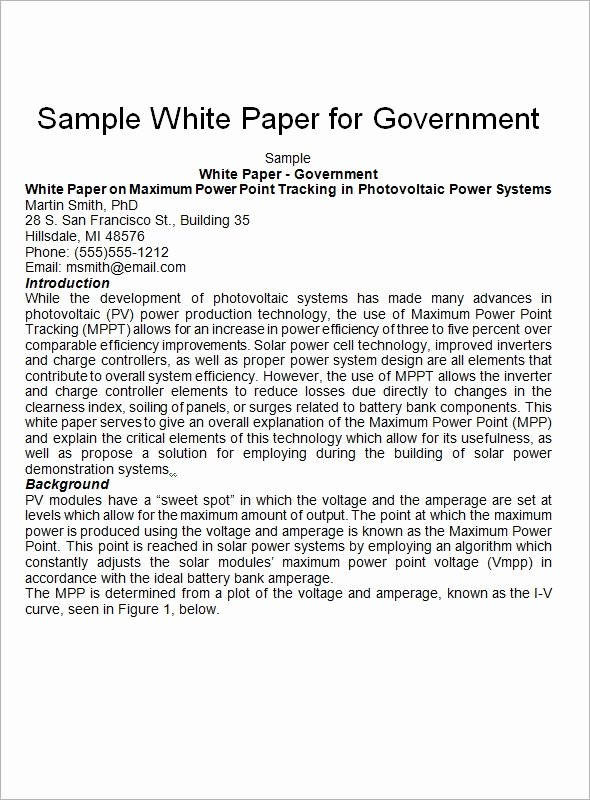 Sample White Paper Template Awesome Free 12 White Paper Templates In Pdf