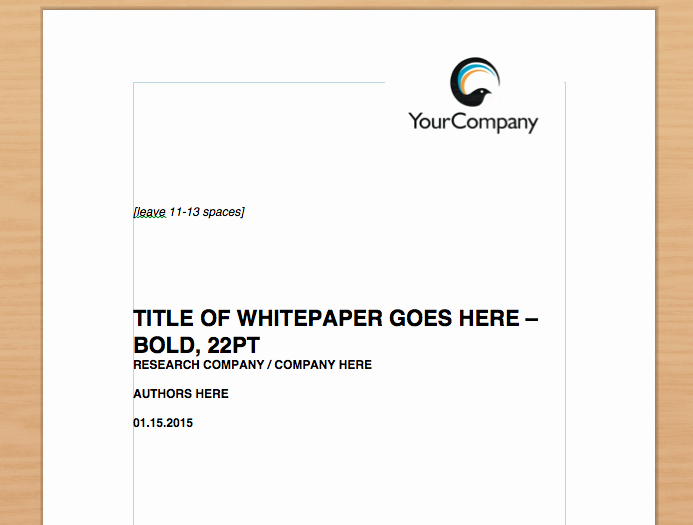 Sample White Paper Template Beautiful 8 Steps to the Perfect White Paper Template Included