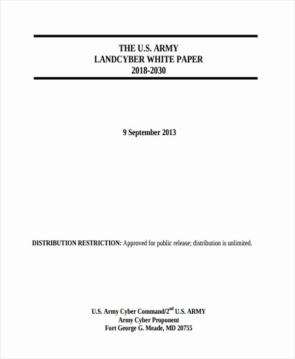 Sample White Paper Template Best Of 33 White Paper Templates In Pdf