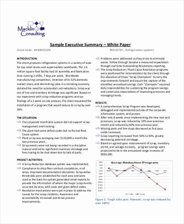Sample White Paper Template Elegant 36 Sample White Paper Templates