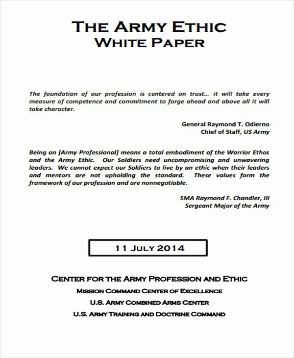 Sample White Paper Template Lovely 36 White Paper Examples