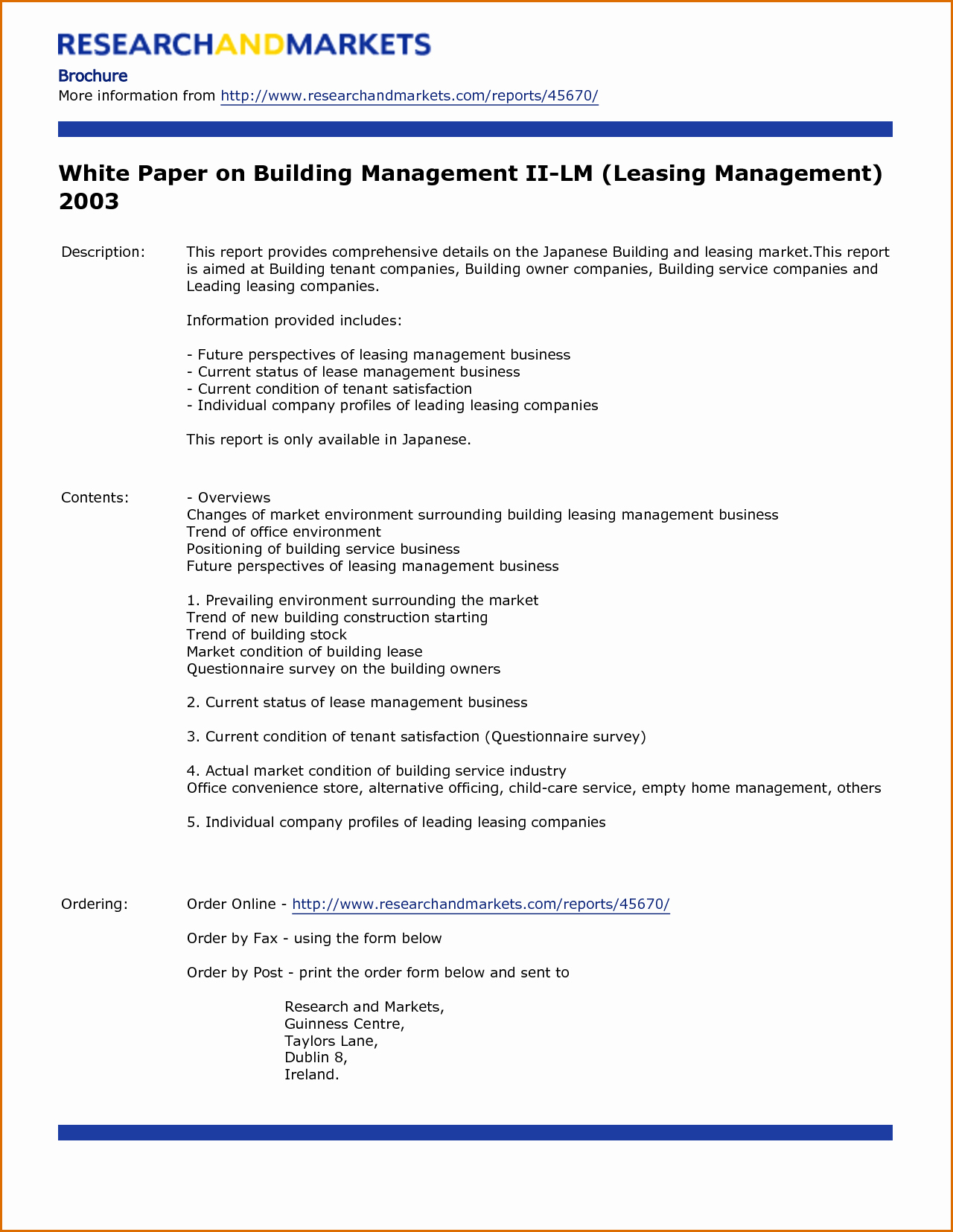 Sample White Paper Template Lovely 7 White Paper Template