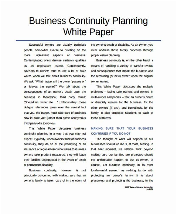 Sample White Paper Template Luxury 33 White Paper Templates In Pdf