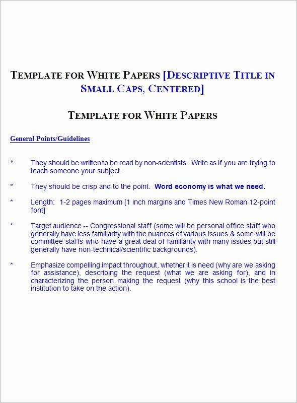Sample White Paper Template New Sample White Paper Template 12 Free Documents In Pdf Word